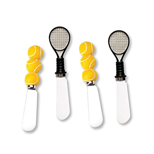 Wine Things Tennis Resin Cheese Spreaders Set of 4 (Wine Theme Gifts)