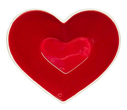 Heart Shaped Bowls (Sagaform 5016202 Sweet Heart Bowl, Red)