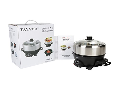 TRMC-40 Shabu and Grill Multi-Cooker, 4 quart, Black by TAYAMA (Image #8)