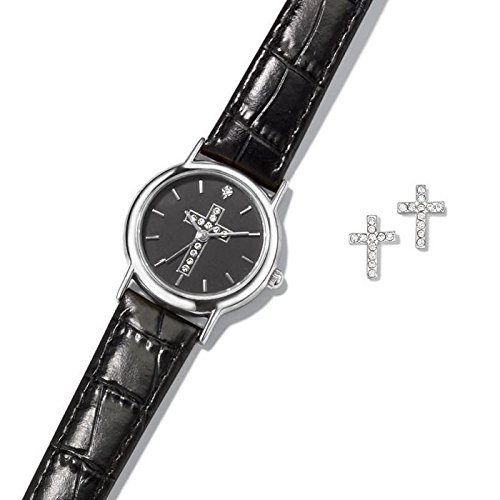 Avon Religious Watch And Earring Set