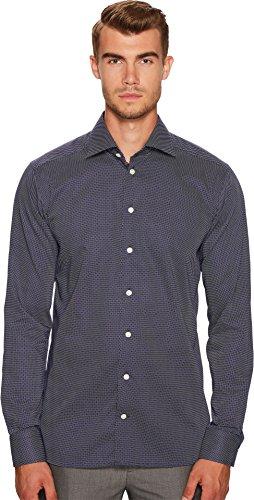 Eton  Men's Slim Fit Signature Dot Shirt Navy/White Shirt