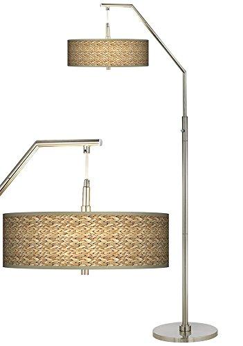 Seagrass Giclee Shade Arc Floor Lamp ()