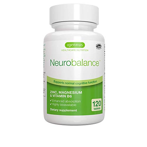 Neurobalance, Zinc, Magnesium & Vitamin B6 Supplement for Adults & Children, 120 Tablets