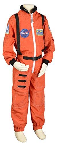 Aeromax Jr. Astronaut Suit with Embroidered Cap, Size 4/6 – Orange