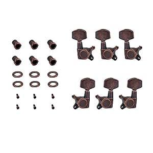 D DOLITY 1 Conjunto Clavijas de Afinaciónes para Guitarra con Tornillos Arandelas Claves de Ajuste para