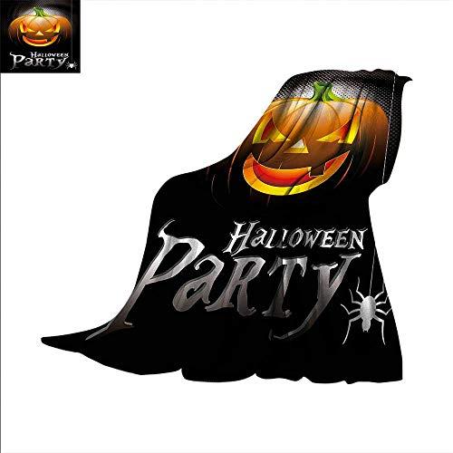 Halloween Digital Printing Blanket Party Theme Scary Pumpkin Summer Quilt Comforter -