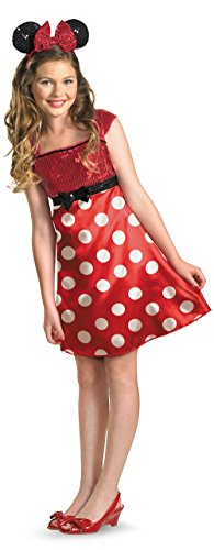 Minnie Mouse Costume For Girls (Disney Minnie Mouse Clubhouse Tween Costume, Red/White/Black,)