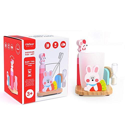 Toothbrush Timer Toy - Children Three Minutes Hourglass Tooth Cup Holder (Pink) by Caroline (Image #7)