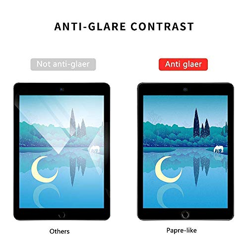 [2 Pack] iPad 9.7 Screen Protector for iPad 9.7 2018 / iPad Pro 9.7 2016 paerlike Screen Protector Write/Draw and Sketch Compatible Apple Pencil ipad Paerlike 9.7 - No Fingerprint