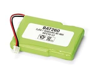 Pack de baterías 3,6V/400mAh Ni-MH.