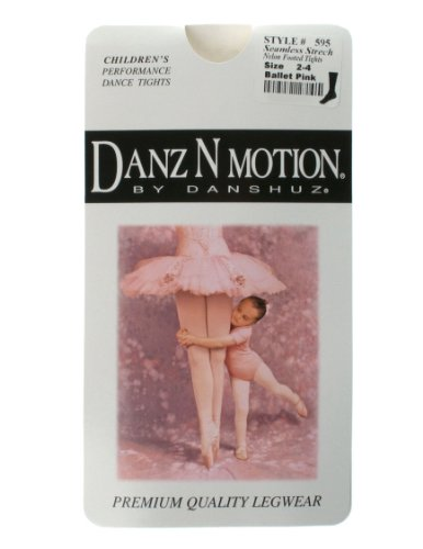 - American Theater Dancewear DanzNmotion by Danshuz Girl's Nylon Tights 12-14 Pink