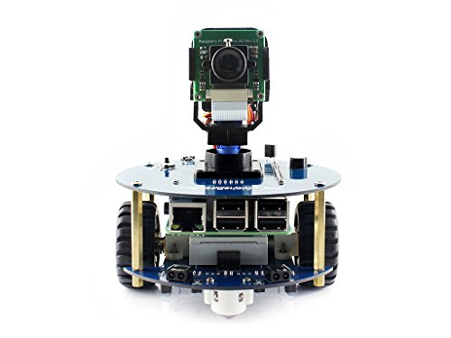 Waveshare AlphaBot2 Robot Building Kit Designed for Raspberry Pi 3 Model B+ Line Tracking Obstacle Avoiding Bluetooth/Infrared/WiFi Remote Control Video Monitoring