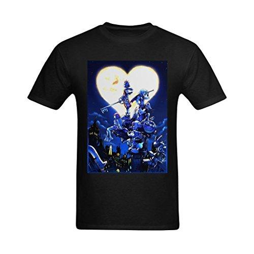 Youranli Men's Kingdom Hearts Blue Night Poster T Shirts -