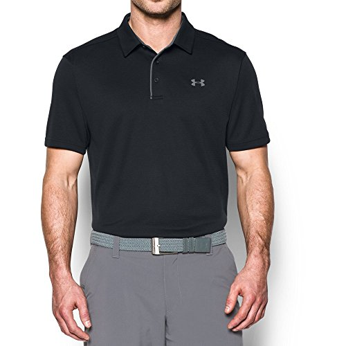 Under Armour Men's Tech Polo, Black (001)/Graphite, Large by Under Armour