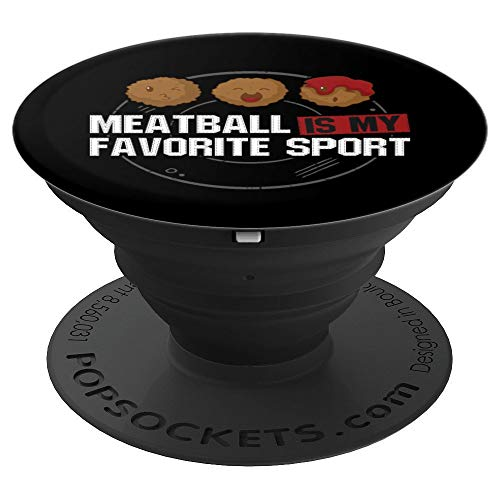 - Meatball Is My Favorite Sport Beef Pasta Spaghetti Bolognese PopSockets Grip and Stand for Phones and Tablets