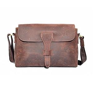 Kattee Women's Vintage Genuine Leather Messenger Shoulder Bag