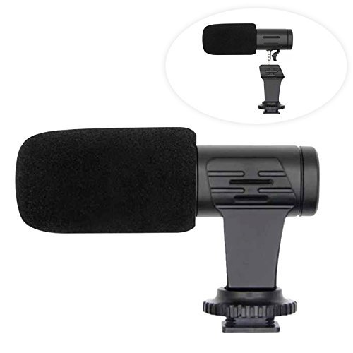 Professional Mini Shotgun Video Microphone, Universal Compact On-Camera Mini Recording Mic Directional Condenser for IPhone Android Smartphone Tablet DSLR Camera Camcorder with Furry windsheild by EASJOY