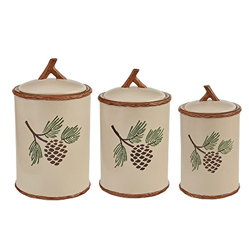 (Park Designs Pinecroft Canister Set - Set of 3)