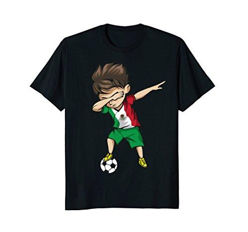 Dabbing Soccer Boy Mexico Jersey Shirt - Mexican Football Team Flag Football Jersey
