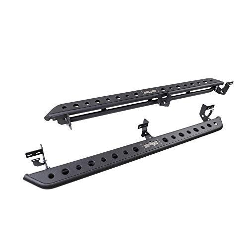 EAG Steel Rocker Sliders Running Boards Compatible with 09-18 Ram 1500/10-19 Ram 2500/3500 Crew Cab