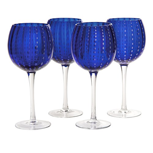 (Artland Cambria Goblet 18 oz (Set of 4), Cobalt)