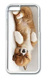 MOKSHOP Adorable cute puppy sleep Hard Case Protective Shell Cell Phone Cover For Apple Iphone 6 (4.7 Inch) - PC Transparent