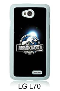 Newest LG L70 Case ,Jurassic World White LG L70 Screen Phone Case Popular Fashion And Durable Designed