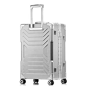 NJC Box Large Capacity Aluminum Trolley Case Male and Female Suitcase Pulley Suitcase