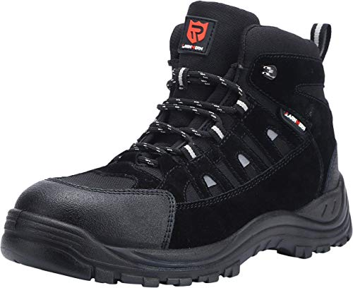 LARNMERN Mens Work Safety Boots, Steel Toe Casual...