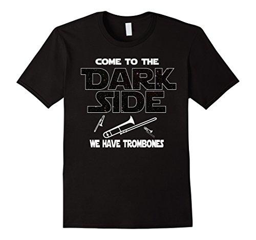 Mens Trombone Shirt - Come to the Dark Side Medium Black