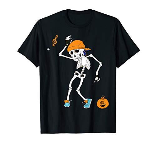 Skeleton Halloween Costumes Funny Dancing Skeleton T-Shirt
