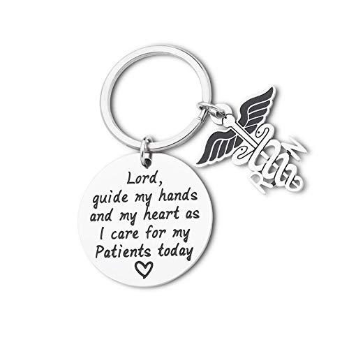 Nurse Prayer Keychain Gift for Nursing School Graduate