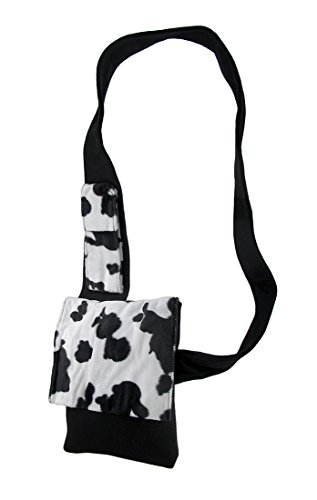X Cross Felt Cross 8 10 Cow Print Fur Womens 1 Bags Bag Body Black Polyester Inches Faux Pouch W Black X And Body White Cell 4cHP5xxqwf