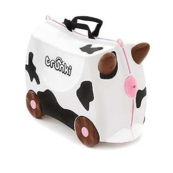 Trunki Frieda Cow Ride-On Suitcase White