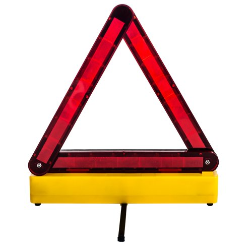 Stalwart (75-ST1LED36) 36-LED Day and Night Highway Warning Safety Triangle