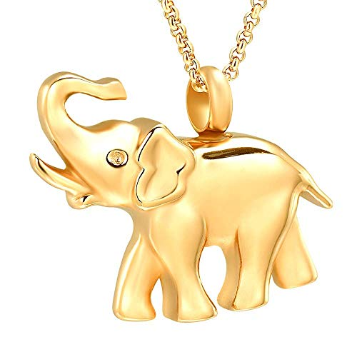 7 COLOR WINGS Cremation Urn Necklace for Ashes Urn Jewelry Memorial Pendant with Gift Box Keepsake Rhinestone Necklace Crystal Cute Elephant Pendant Memorial Jewelry ()