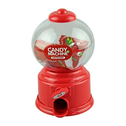 Outtop Candy Machine Piggy Bank Atm Money Box Classic Gumball Machine Bank,Red