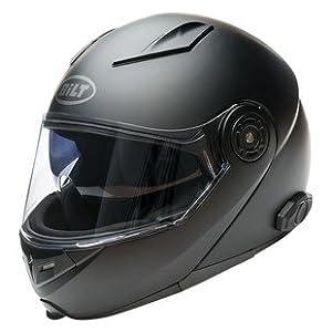 Bilt Techno 2.0 Sena Bluetooth Modular Helmet - LG - Matte Black