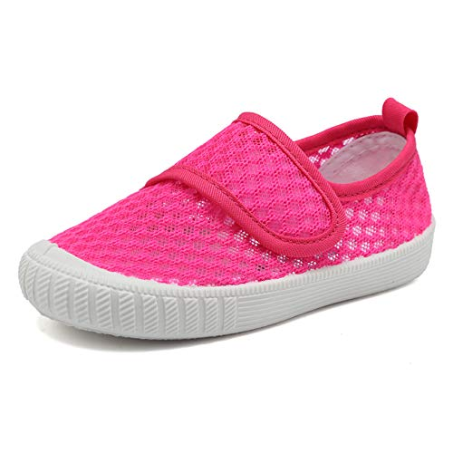 CIOR Boys & Girls' Breathable Mesh Slip-on Sneakers Sandals Water Shoe for Running Pool Beach Toddler/kidsSK909,Pink,25
