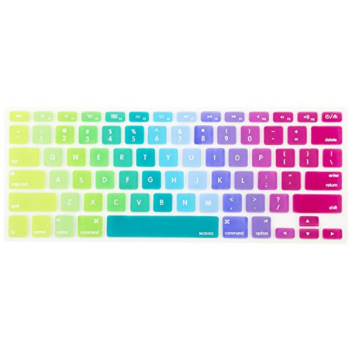 mac keyboard cover rainbow - 1