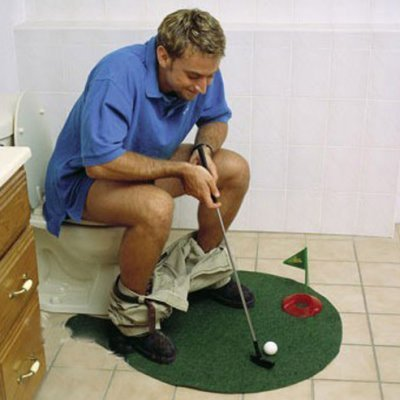 Golf Wc Mat.Blue Foot Products Potty Putter Putting Mat Golf Game Misc
