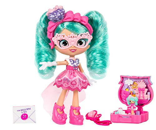 Bella Bow - Shopkins Lil Secrets - Collectable Shoppie Doll with Wearable Locket, Shoppie Toy Inside - Bella Bow