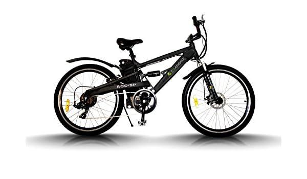 Egarbike Bicicleta eléctrica ROC SP Doble Suspension 36V 10ah MTB 7 SP 360wh LIFEPO4: Amazon.es: Deportes y aire libre