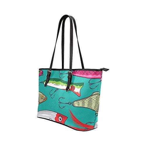 Designer handväska Cattoon vacker söt randig fisk läder handväskor väska orsaksala handväskor dragkedja axel organiserare för dam flickor kvinnor kvinnor handväskor