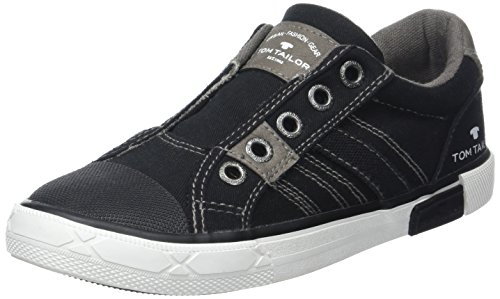 TOM TAILOR Jungen 2770903 Slipper Schwarz (Black)