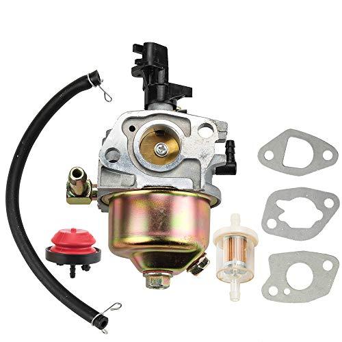 Dxent Carburetor + Primer Bulb Parts Kit fit MTD Cub Cadet 951-10974 951-10974A 951-12705 Troy Bilt Snow Blower Thrower Craftsman Snowblower Engine Carb w/Gaskets