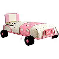 HOMES: Inside + Out Iohomes OConnor Racing Metal Youth Bed, Twin, Pink