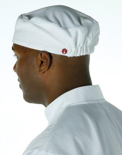 Chef Works Men's Total Vent Chef Beanie, White, One Size by Chef Works