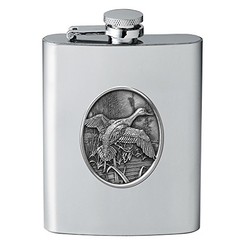 CMC Heritage Pewter Wildlife Mallard Duck Flask One Size from CMC Heritage Pewter