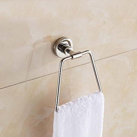 z & T T de acero inoxidable toalla toallero de anilla para colgar toalla de baño cuarto